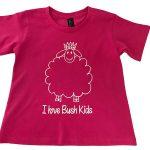 woolly design hot pink t-shirt