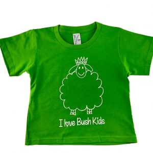 woolly design green t-shirt