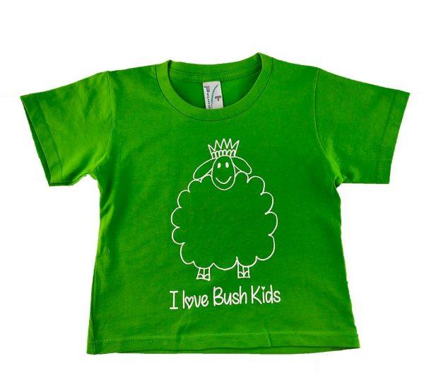 woolly design green t-shirt