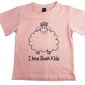 woolly design light pink t-shirt