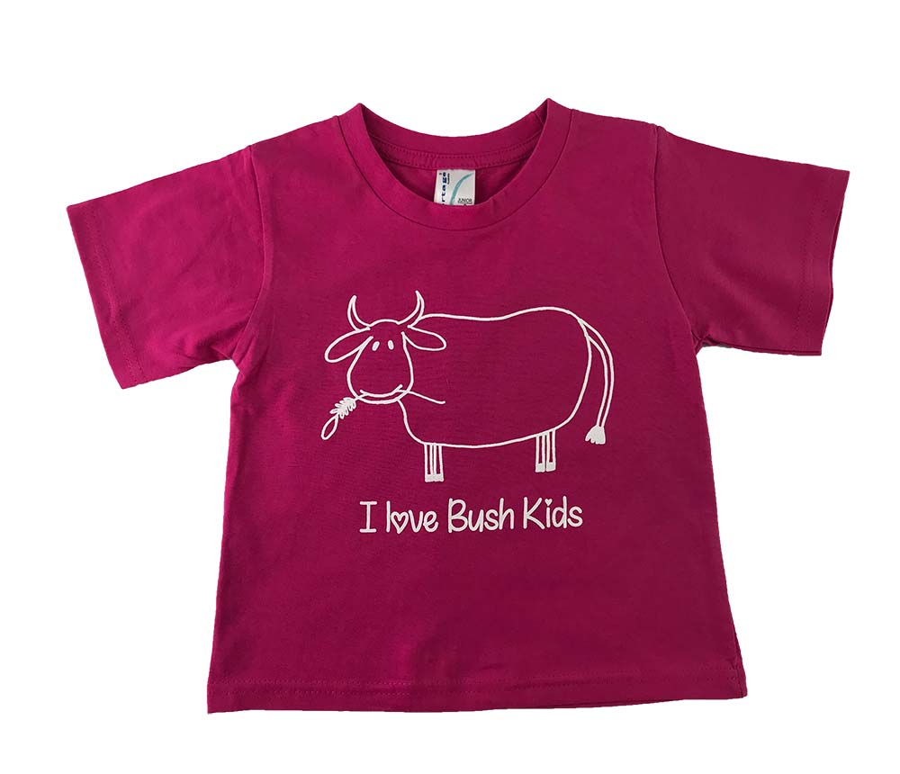cow design purple t-shirt