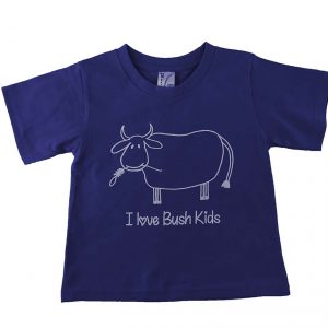 cow design navy blue t-shirt