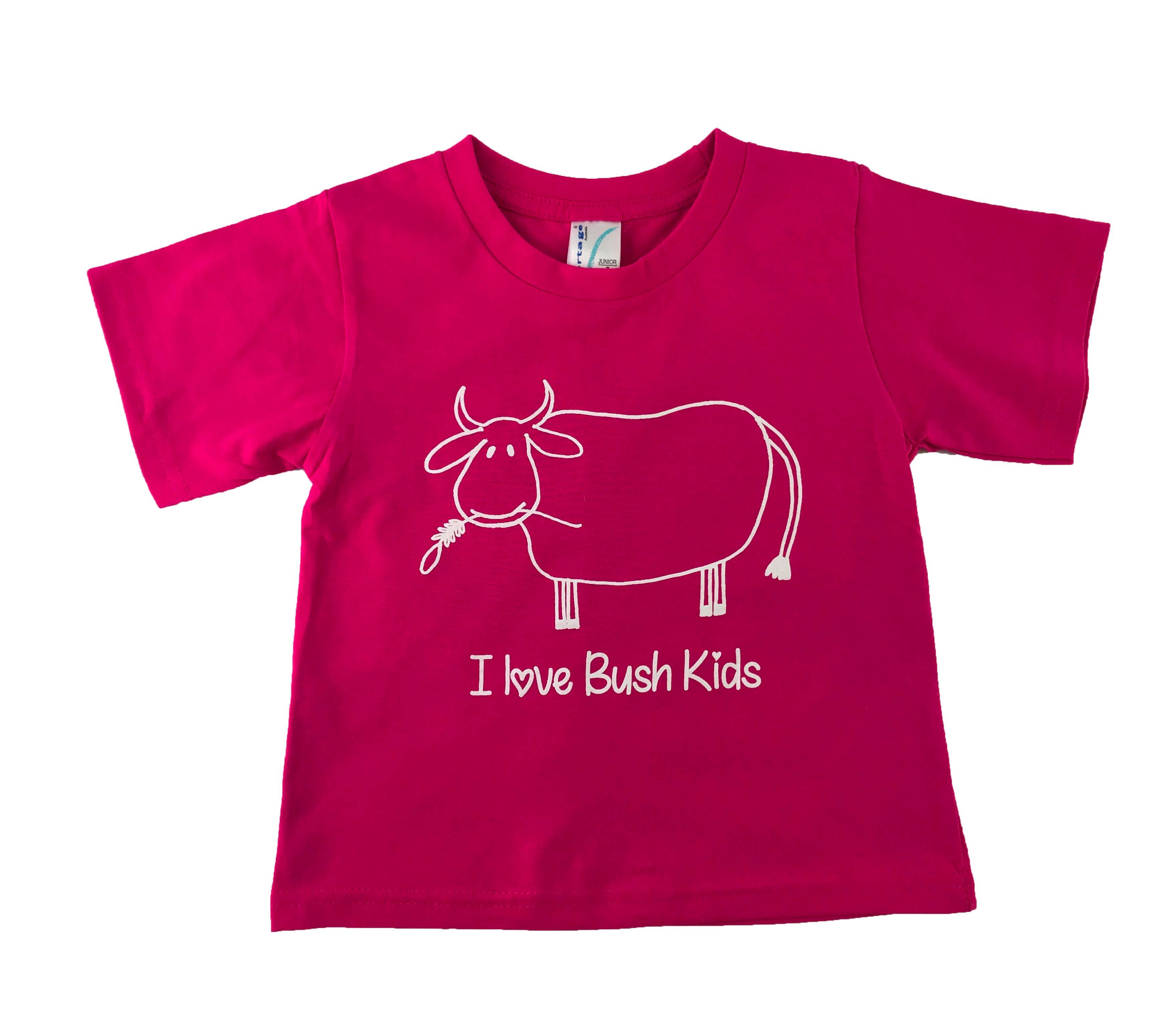 cow design hot pink t-shirt