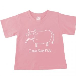 cow design pink t-shirt