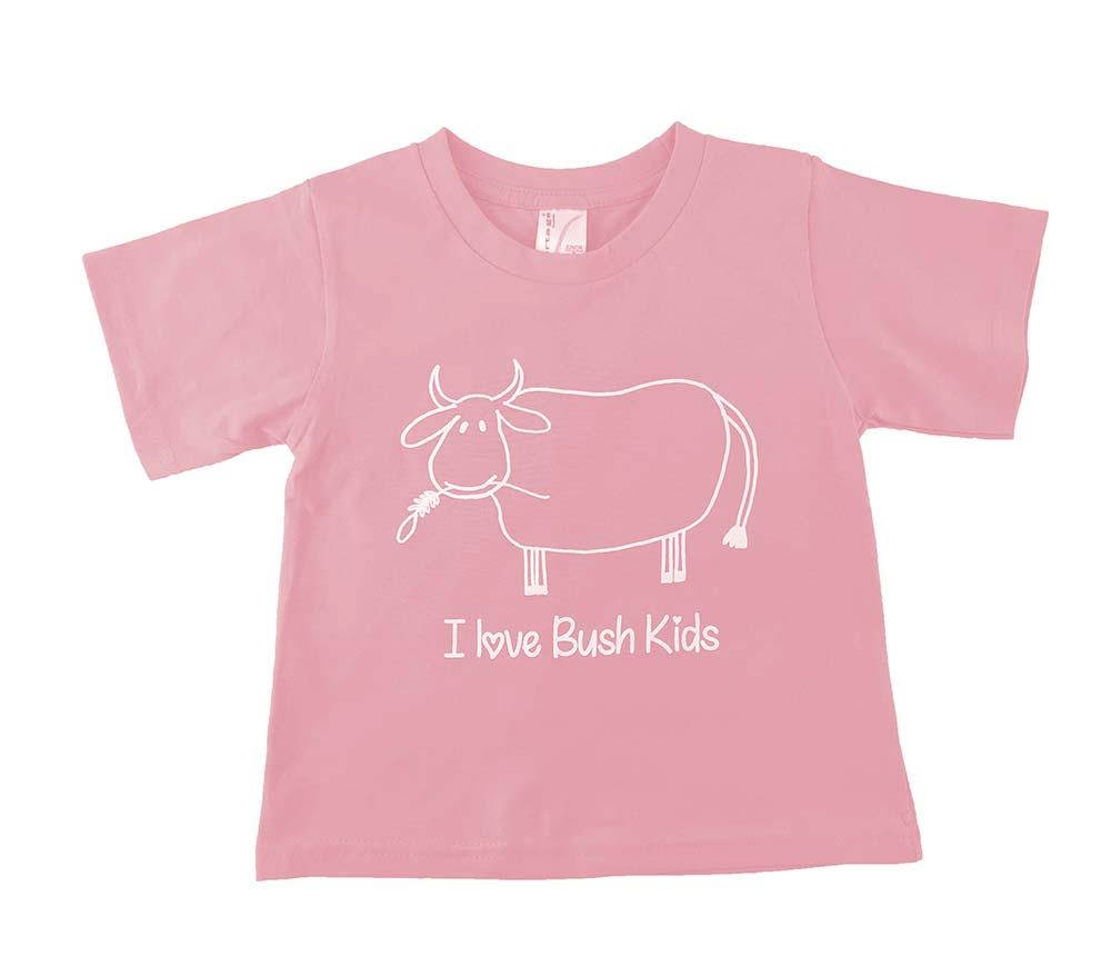 cow design pink t-shirt