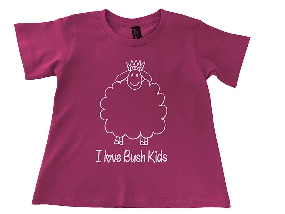 woolly design purple t-shirt