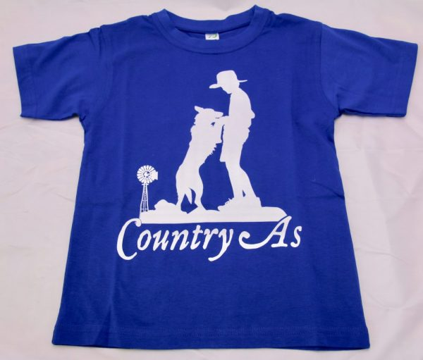 Blue Country As T-shirt