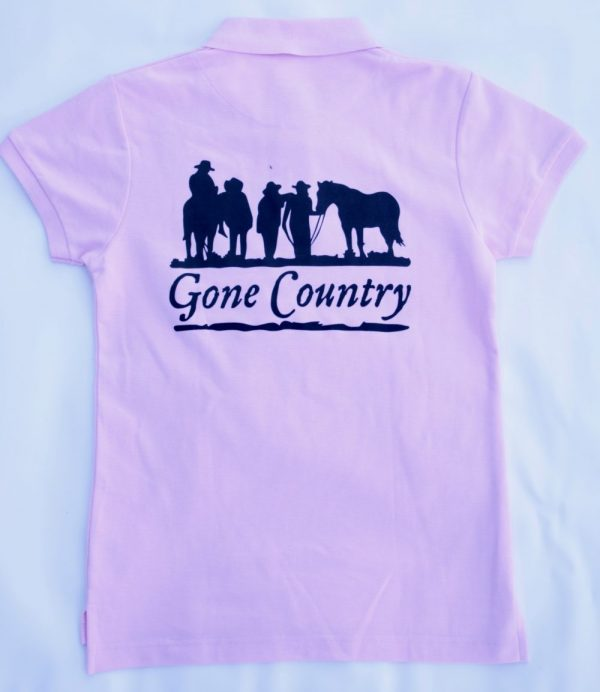 Gone Country pink polo back