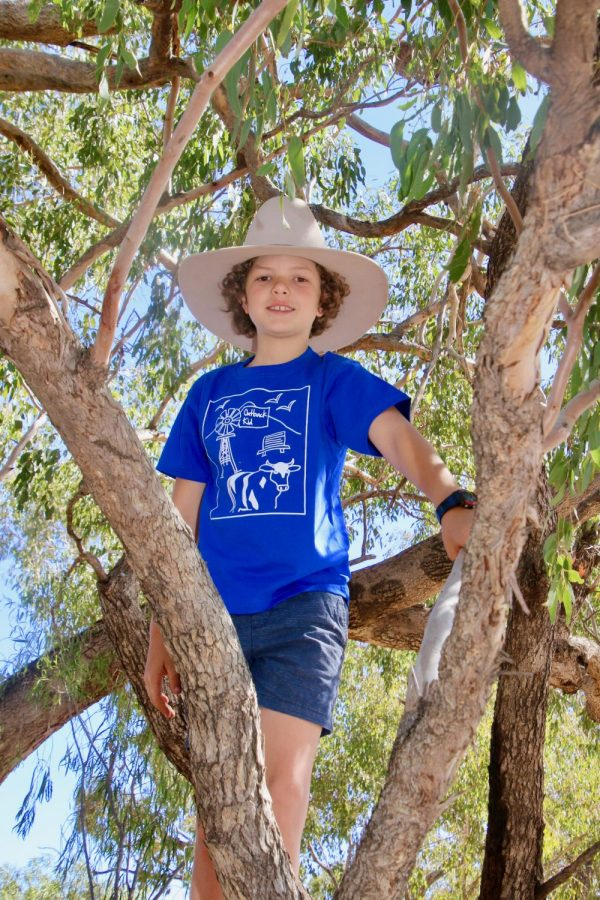 outback kid tshirt blue in tree