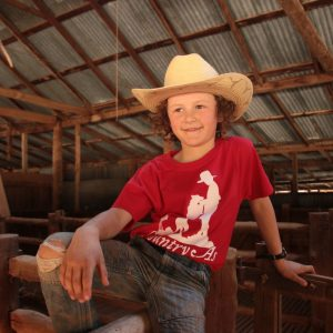 Red Country As shirt in the shearing shed