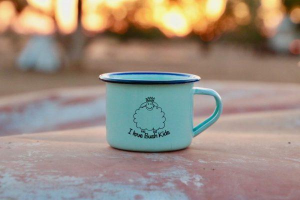 blue green woolly mug