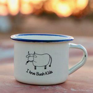 cream moo enamel mug