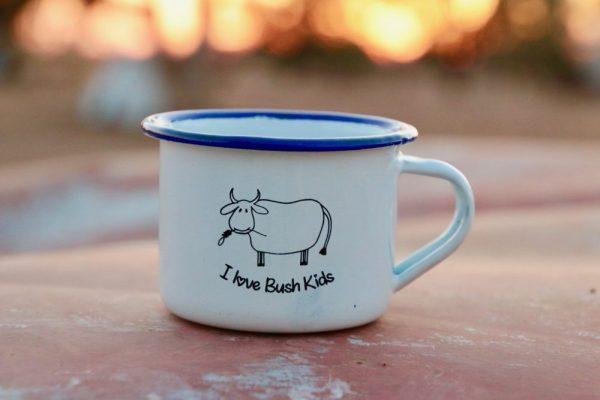 white moo enamel mug