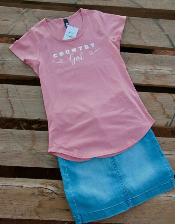 new country girl t-shirt pink 2