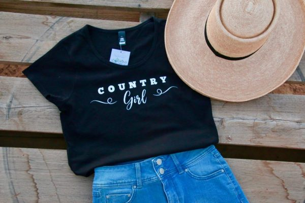 Black country girl t-shirt new