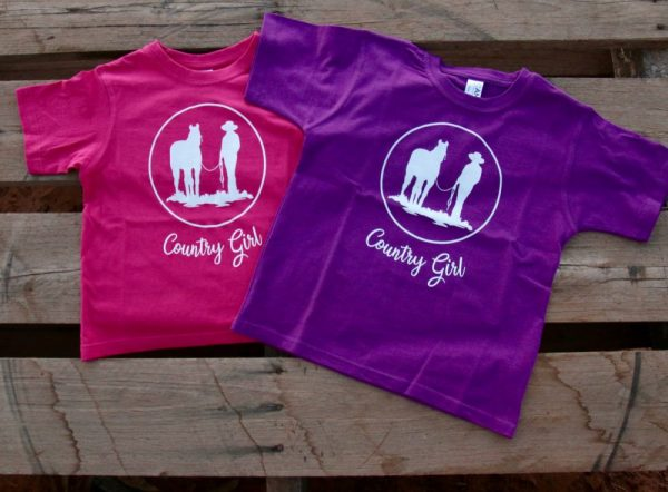 Pink and purple country girl t-shirt