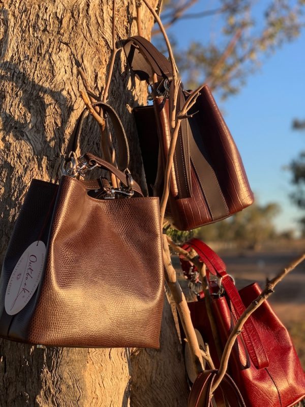100% Leather Bucket Bags - Australian Made.