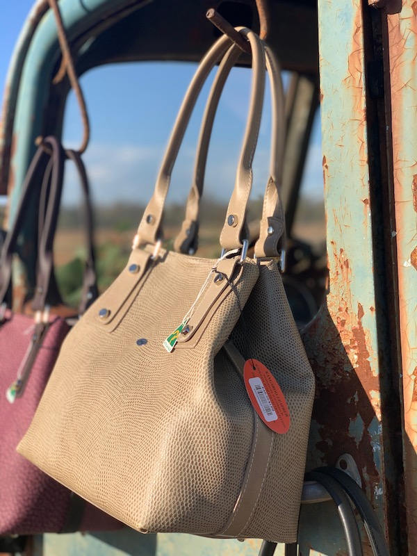 Elegant Elephant Lizard Print Alice Handbag in 100% kangaroo leather made in Sydney