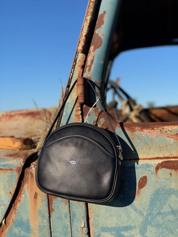 Black 100% Leather Australian made Shoulder bag