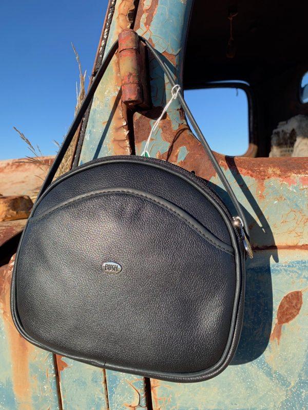 Black 100% Leather Shoulder Bag