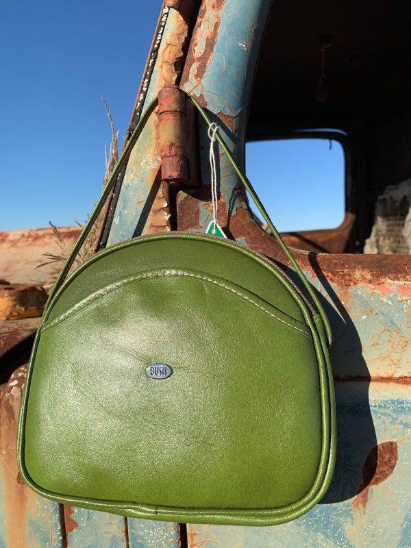 Eucalyptus Green 100% Leather Shoulder Bag.