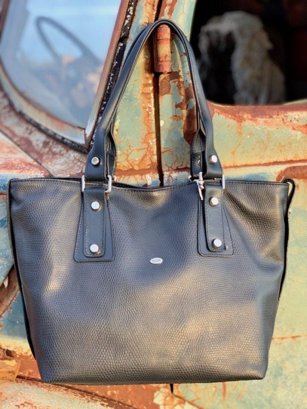 Navy Lizard Print Kangaroo 100% leather Alice handbag