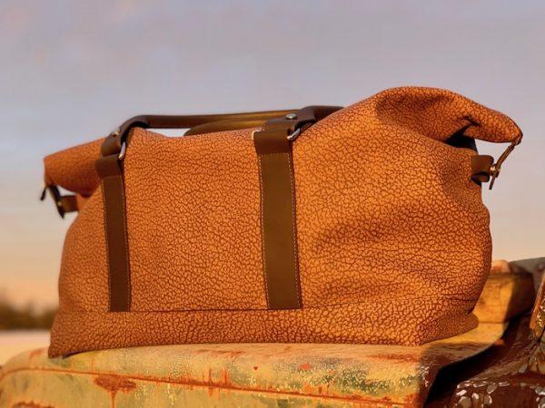 Longhaul Weekender in Textured Brown 100% kangaroo leather