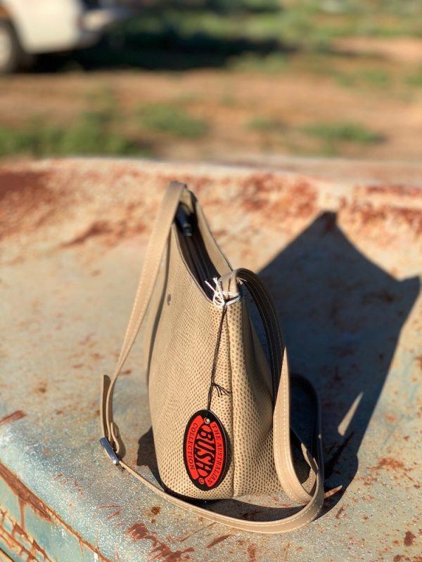 Elephant Lizard Print Alexandra Kangaroo Leather Shoulder bag