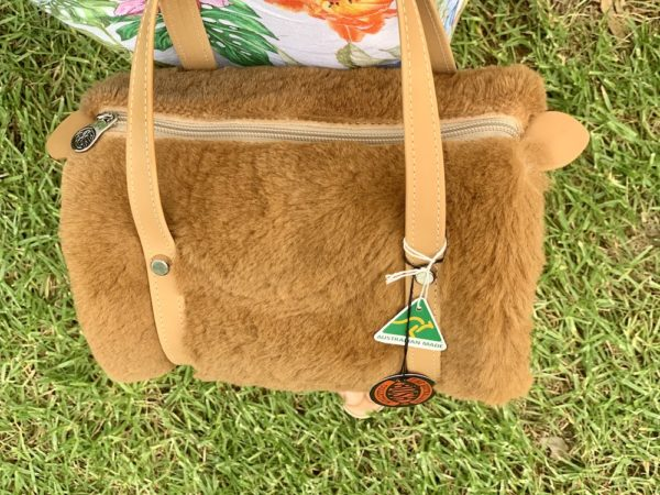 Kangaroo Fur Barrel Bag - Medium Australian Made