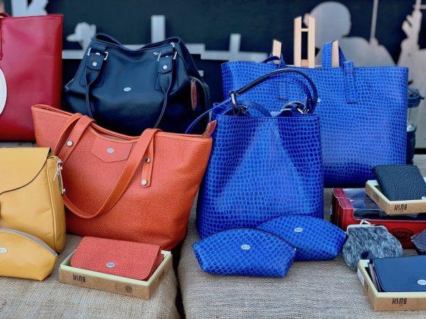 Electric Blue Pebble 100% Leather Australian made Bucket Bag